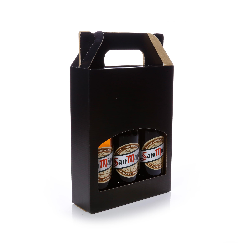 Beer Cider Bottle Gift Box Db72bl Packaging For Retail