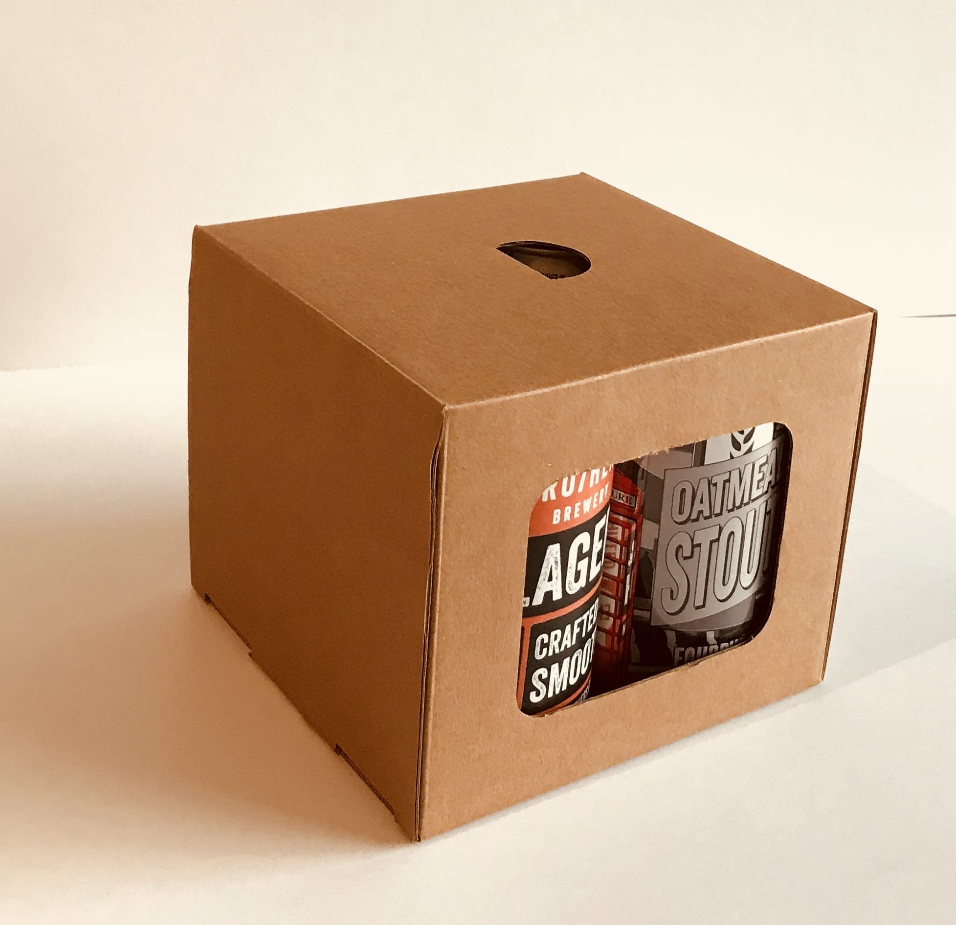 Beer Or Cider Can Carrier Gift Boxes Packaging For Retail Uk