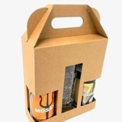 2 x 440ml Beer & Cider Gift Pack with Glass