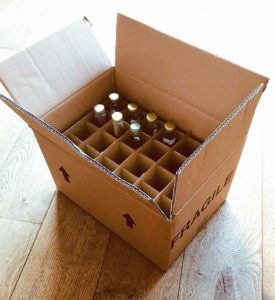 Shipping boxes for Lixir Drinks by Packaging for Retail, UK.