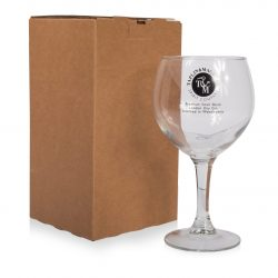 Single Gin Glass Postal Box by Packaging for Retail.