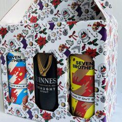 6 Beer Can Christmas Gift Box