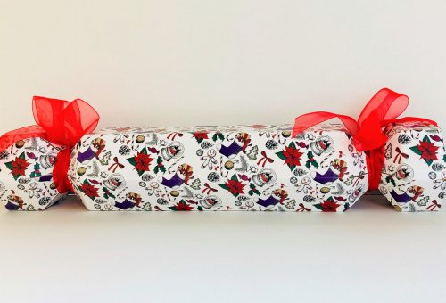 Christmas Cracker with red ribbon