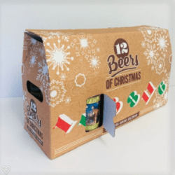 CHRISTMAS BOTTLE ADVENT BOX by Packaging for Retail, UK.
