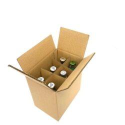 6 x bottle box packaging