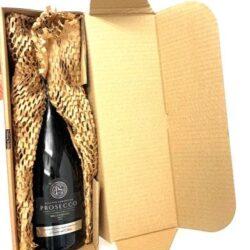 Single Bottle Postal Box with Wine
